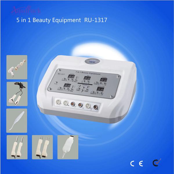 EU steuerfrei RU-1317 5-in-1-Multifunktions-Schönheitsinstrument Schaufel Haut Ultraschall BIO Peeling Haut Schönheitsinstrument