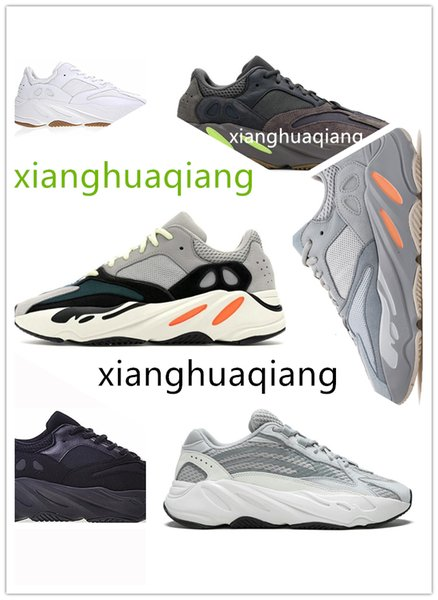 best selling 700 Wave Runner 2020 Mauve Vanta Inertia Solid Grey White woman Men Running Shoes V2 Static 3M Blue Kanye West Shoes Sport Sneakers