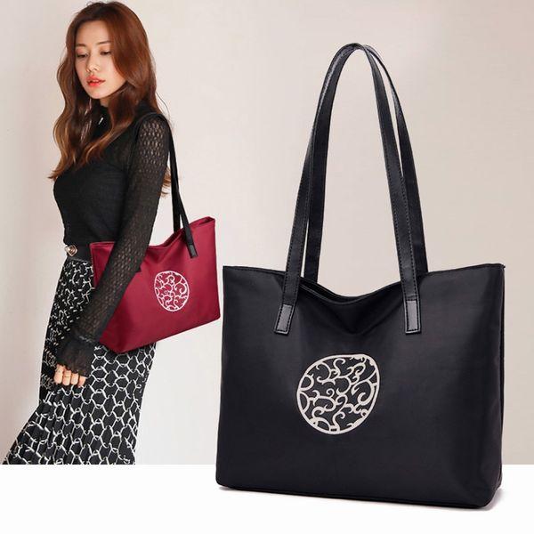 Fashion Lady Large Capacity Shoulder Bag Versatilely handbag Simple Casual Travel Bag Oxford Cloth Beach bolsas de mujer