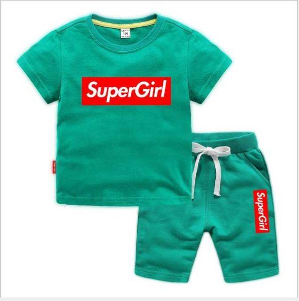 2020 Nueva primavera de lujo L 0 g 0 Pantalones de camiseta de diseñador para niño 2-7 Edad Traje Niños Marca para niños 2pcs Ropa de algodón Conjuntos Ropa de moda para niño