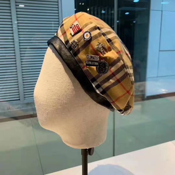 2019 chapeaux de cambrioleur haute couture bérets de haute qualité hiver automne designer de mode chapeaux élégants pour hommes et femmes