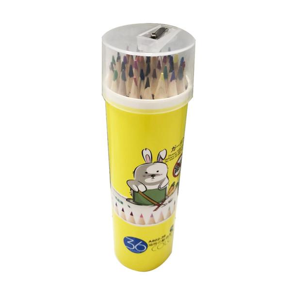 Amazon hot sale smooth writing 36 color green wooden color pencil barrel children's painting color pencil set wholesale