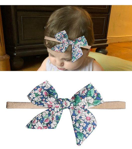 Floral baby accessories hair ties girls Unicorn cotton ribbon baby turbans Polka Dot Head Knited softball band scrunchies Headbands hairbows