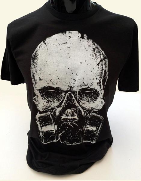 Skull Gasmask Футболка мужская S-2XL постапокалиптическая готик-яд биологически опасный яд