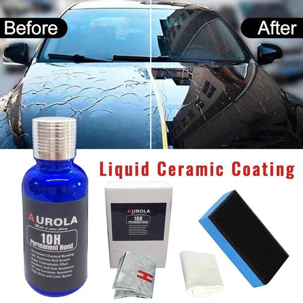 10h Ceramic Car Paint Coating Protective Foil Car Kit Anti Scratch Liquid Nano Coating Sealant Protection Super Hydrophobic Car Care Online Car Care