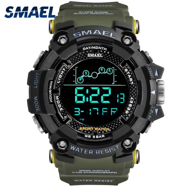 mens watch military water resistant smael sport watch army led digital wrist satches for male 1802 relogio masculino watches