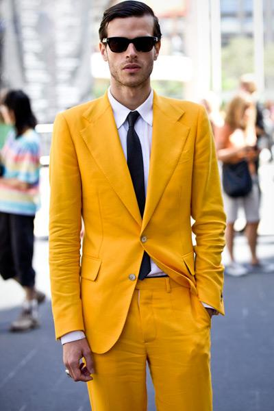 Handsome Yellow Men Wedding Tuxedos Notch Lapel Two Button Groom Tuxedos 2019 Style Dress Men Business Dinner/Darty Suit(Jacket+Pants+Tie)8