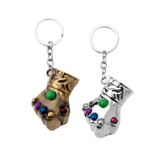 The Avengers Thanos Keychain Cartoon Pendant Keychains Fist Car Hanging Accessories Metal Toys Fashion Accessories Kids Gifts HHA356
