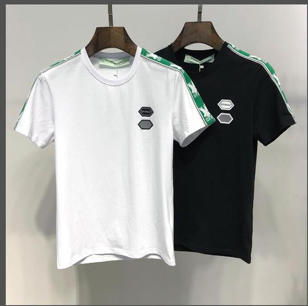 2019 luxus t-shirt WEIß marke luxus tops designer t-shirts für herren frauen t-shirt frauen t-shirt männer kleidung kurzarm kleidung weiß