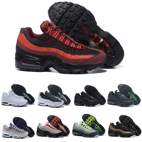 Compre Nike Air Max 95 Shoes Mejor Calidad Para Hombre Negro Rojo Zapatillas Hombres Mujeres Triple Blanco Negro Amarillo Uva Solar Rojo Diseñador