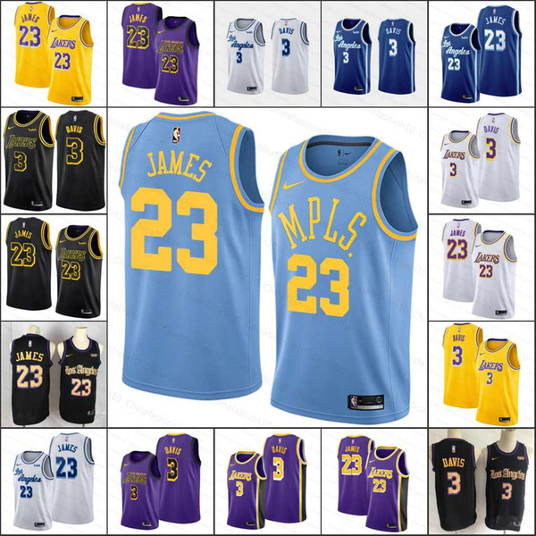 2019 2019 New Men 23 James Lebron Los Angeleslakers Anthony Davis Kyle Kuzma Cheap Stitchednba Basketball Cityedition Jerseys From