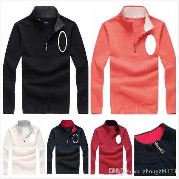 2019 Ralph Mens Sweater Lauren Mens Designer Pullover Big Horse Pattern High Quality Mens Brand Sweatshirt Luxury Knit Jacquard Winter Sweater From