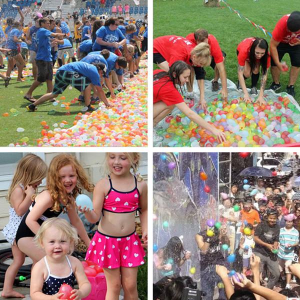 2019 111 pz / set Riempimento rapido Palloncini d'acqua Bomb Palloncini d'acqua Palloncini Gonfiabili Sprinking Ballons per bambini Estate Divertimento all'aperto Festa