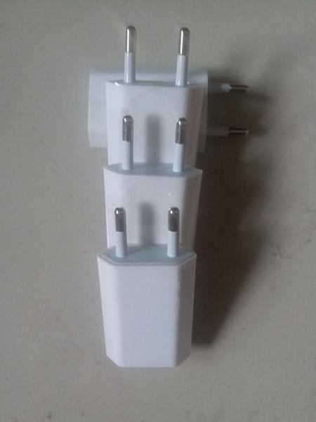 100 PZ Qualità 5 W 5 V 1A US / EU Plug USB Adattatore di Alimentazione CA Adattatore Caricatore A Parete ricarica A1385 A1400 NESSUNA scatola al minuto