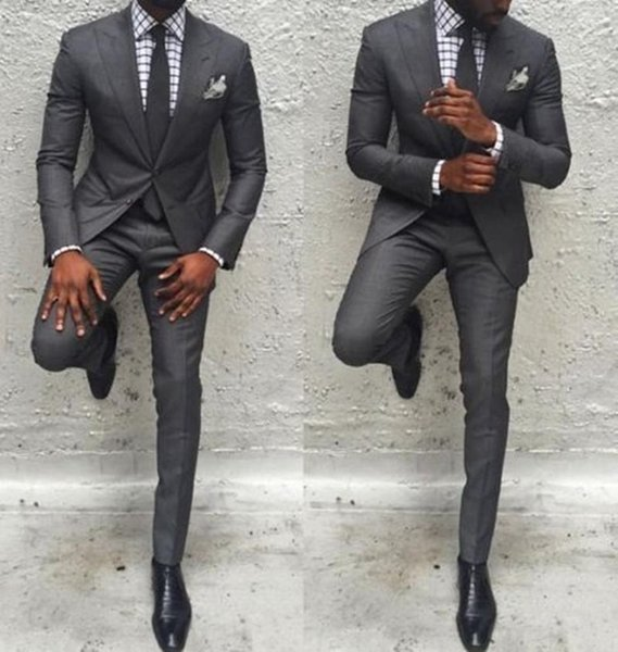 Hot Sale Men Pants Suit Slim Fit Jacket Best Man Business Party Classic Tuxedos 2 Pieces Prom Costume Homme Jacket+Pants #495859