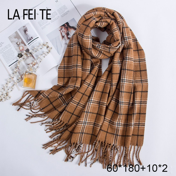 Sciarpa in pura lana 100% donna Foulard collo fazzoletti Echarpe Homme scialli in cashmere stole coperta sciarpe donna per donna 2019