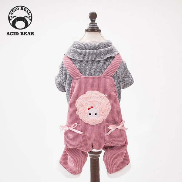 Dog pet clothes new cute pet four legged clothes Teddy small dog autumn and winter cotton puppy dog clothing supplies