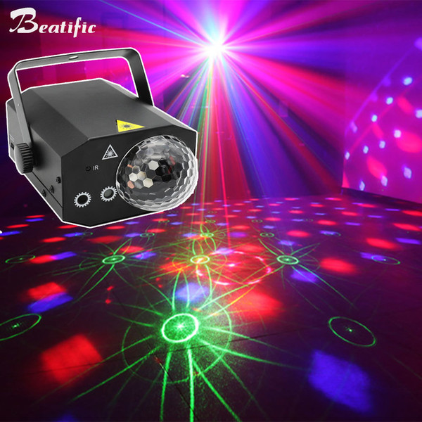 RGB LED Disco Music Light Magic Ball Party Laser Projector Karaoke Dance DJ Club Center Lights Strobe Sound active with Remote