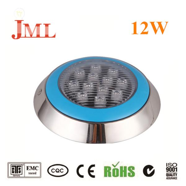 JML 12 Вт Подводное Освещение 24 В Нержавеющей Стали IP68 RGB Белый Теплый Белый LED Свет Бассейна безопасны в использовании