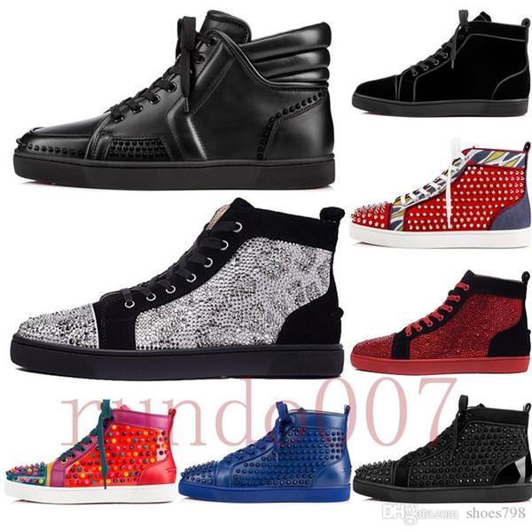 top 2019 fondo rojo gz zapatos 19ss calcetín de pico donna spikes tops zapatillas de deporte de los hombres chaussures talones para hombre mujer baja botas altas diseñador blanco