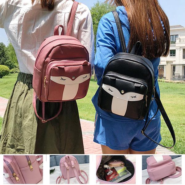 Fashion mini backpack 4 colors Little Fox PU Backpacks 26*21*10cm Girls Handbag Shoulder Bag kids schoolbag DHL SS14
