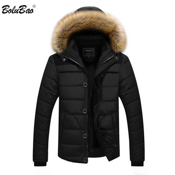 BOLUBAO 2018 Winter Keep Warm Jacket Men Casual Male Thicken Men Parka Warm Winter Outwear Cotton Padded Jacket Coats