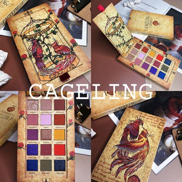 Cageling 15 colores de la gama de colores del reflejo del brillo mate de sombra de ojos Pallete pigmentado Larga duración Kit de maquillaje a prueba de agua