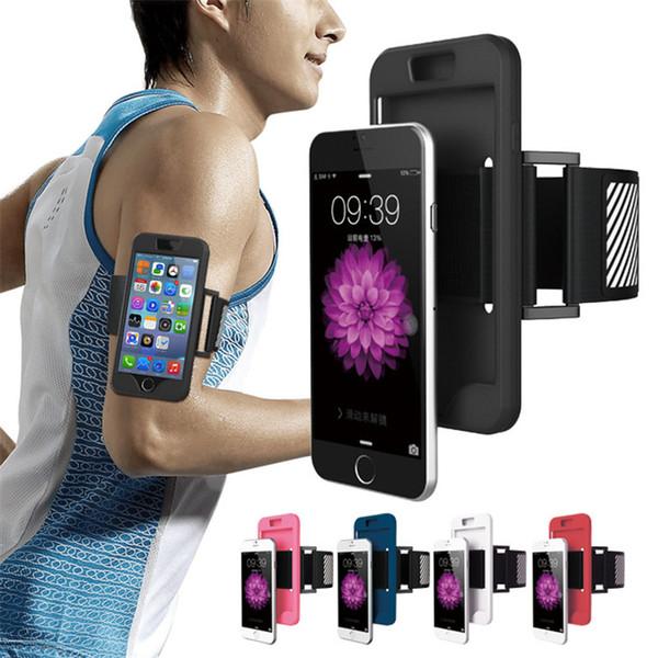 Brassard Téléphone Case Pour iPhone 6 6S Plus 5 5S SE Course Sport Brassard Sac Poche Silicone Cas de Téléphone portable Couverture