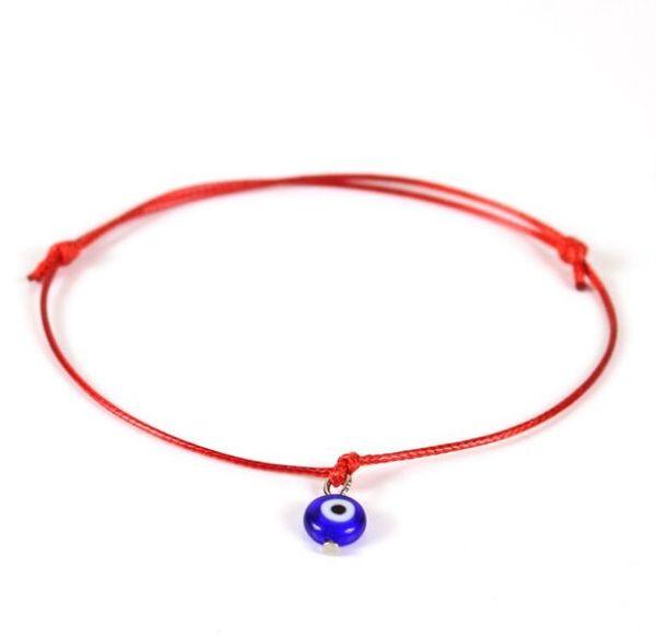 20pcs/lot Lucky Kabbalah Red String Hamsa Bracelets Blue Turkish Evil Eye Charms Women Fatima Friendship Jewelry