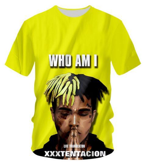 Yeni Yenilik Streetwear Erkekler Kadın Yaz Tarzı Xxxtentacion Komik 3d Baskı Rahat O-Boyun T-Shirt Tops Artı Boyutu WQ0287