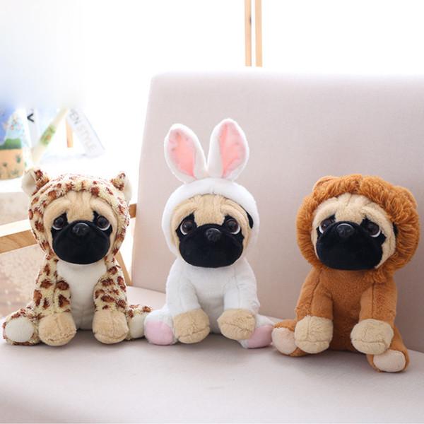 Pug juguetes de peluche lindos animales de peluche muñeca suave perro cosplay dinosaurio elefante niños juguetes cumpleaños regalo de navidad para niños regalos