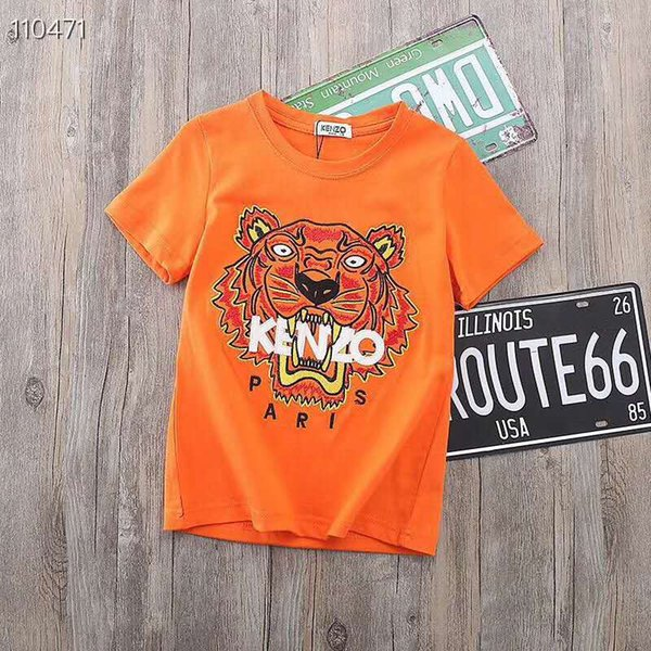 best selling 2019 summer brand Autumn New Product Children's Garment Children Cartoon Embroidery tiger T-shirts Hoodies