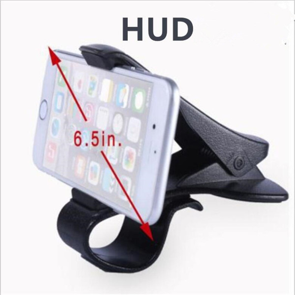 titular exibição da mostra de HUD telefone do carro Universal de 360 graus ajustável Janela Titular do pára-brisa Painel Stand For Titular Tudo Celular GPS