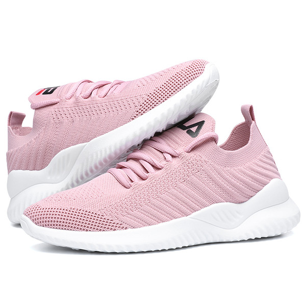 Summer Women's Shoes Casual Fashion Sneaker Flat Platform Stretch Fabric Ladies Shoes 2019 New Mesh Lace-up High Quality