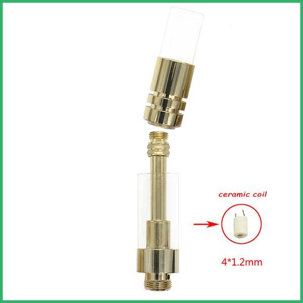 Vape cartucho de bobina de cerâmica vaporizador tanque De Vidro CO2 óleo de ouro melhor venda BUD touch vape Pen Bateria mais novo projeto