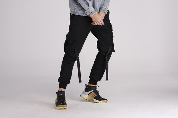 TKPA Nova Moda Mens Vestuário de Camuflagem Carga Calças Bolsos Projeto High Street Jogger Calças