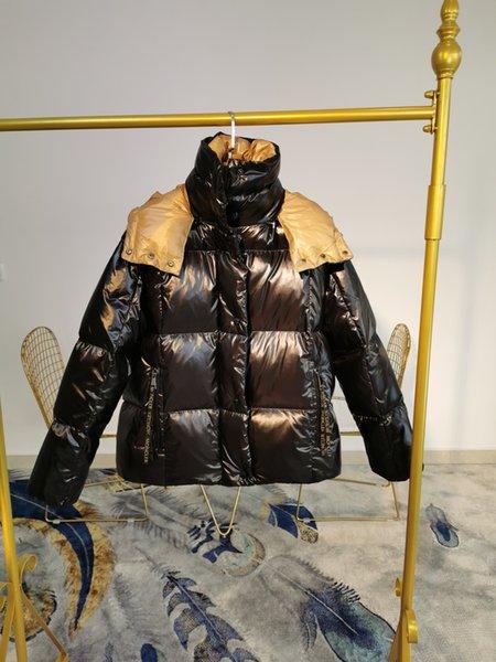 Frauen unten Parkas Jacke lose kurze Winter im Freien Kleidung dicke warme 2.019 neuen Skianzug europäischen authentischen englischen Stil Freizeit 41V