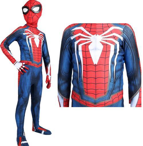 Halloween Roles-playing suit Kids Cosplay Anime Costume Children Spider Tight Fitting Clothes Set Hero Steel Show Man Conjoined Long Pants