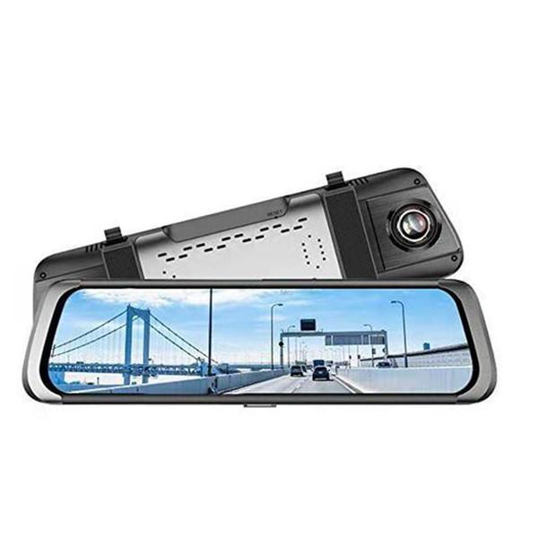 10 Pouces PressScreen 1080P Stream Media Double Objectif Full Hd Reverse Camera 140 Degrés Grand Angle Avec Caméra De Recul G-Sensor Park car dvr