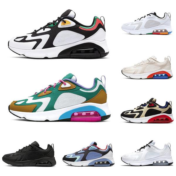 2019 air 200 mens running shoes triple black bright crimson mystic green bordeaux white metallic silver maxes designer sneakers size 36-45