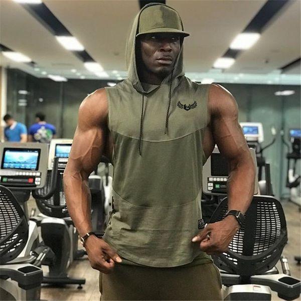 Summer style mens tank tops gyms Fitness Bodybuilding sleeveless Undershirt Casual Fashion Stringer vest singlets sportswear Y19042204