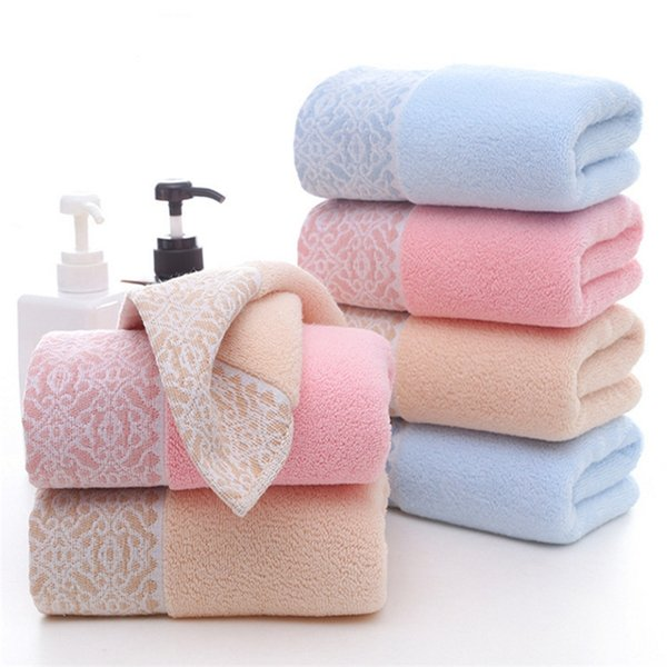 Serviette jacquard épaisse en coton direct 2019 NEW Factory, serviette douce et absorbante