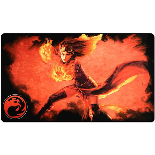 Magic Board Game Playmat:mana 4 planeswalkers chandr 60*35cm size Table Mat Mousepad Play Matwitch fantasy occult dark female wizard2Trial o