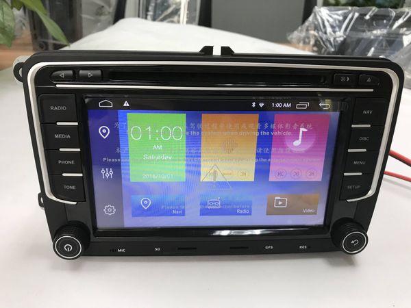 7 inch 2 Din Android 8.1 car gps radio stereo car dvd player for VW GOLF 6 Polo Bora JETTA B6 PASSAT Tiguan SKODA OCTAVIA
