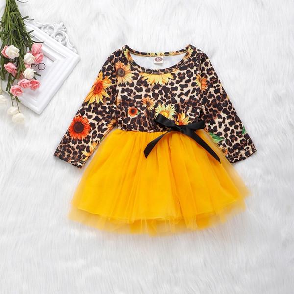 Toddler Kids Baby Girls Clothes Sunflower Princess Party Tutu Flower Dress Tops