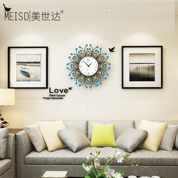 New Hollow Digital Silent Wall Clocks Modern Design Wall Stickers Hanging  Watch Acrylic&Resin White Blue Horloge Large Metal Clocks For Walls Large  ...