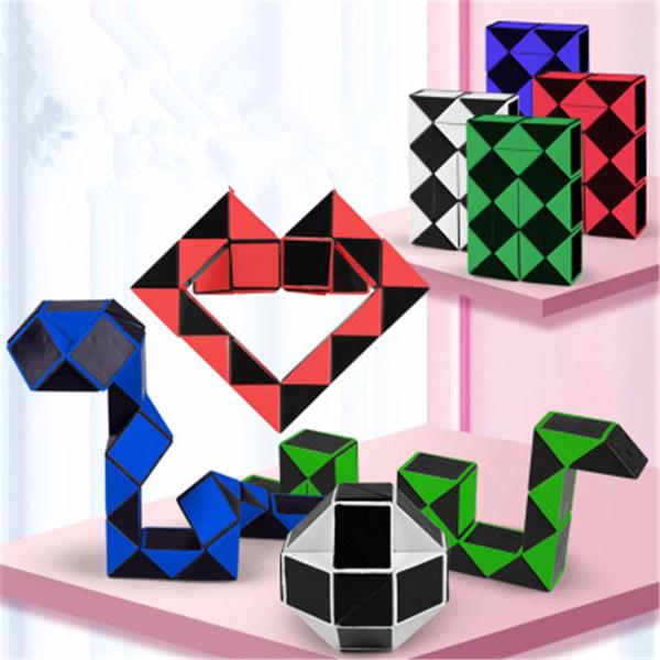 Mini Magia Cobra criativa 3D Puzzle Cobra Forma mutável para a criança Magic Cube jogo Puzzle Twisty Apaziguador Cobra Brinquedos