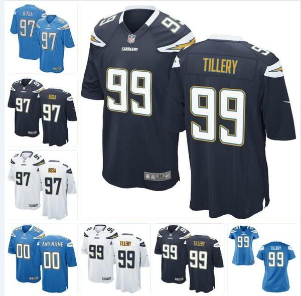 the latest 4d9fa 34a09 2019 Jerry Tillery Chargers Jersey Joey Bosa Philip Rivers Derwin James  Nasir Adderley Drue Tranquill Custom American Football Jerseys Womens Men  From ...