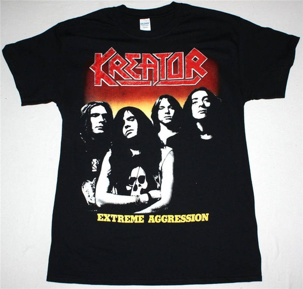 Maglietta New Fashion T Shirt Graphic Letter Short Compression Mens Kreator Extreme T Shirt