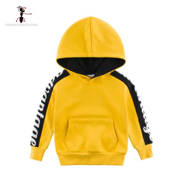 KungFu Ant Crianças hoodies camisolas Meninos dos desenhos animados Imprimir Cotton Pullover Tops bebés roupa ocasional outono